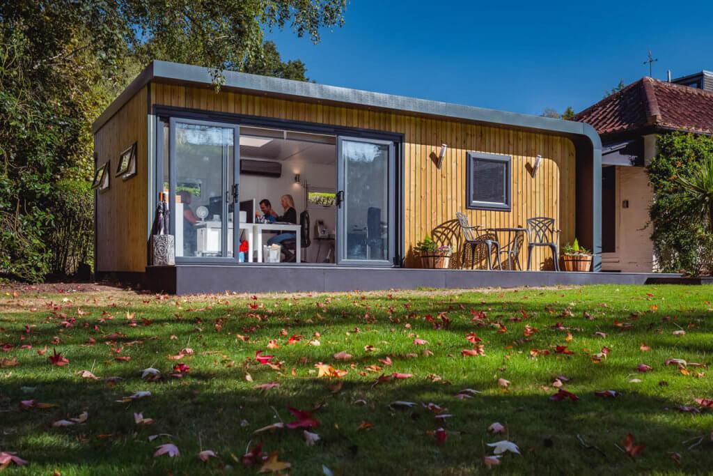 autumn garden office