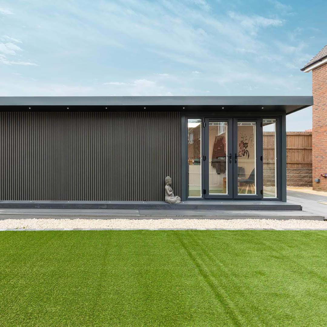 Internal door for multi-functional garden office