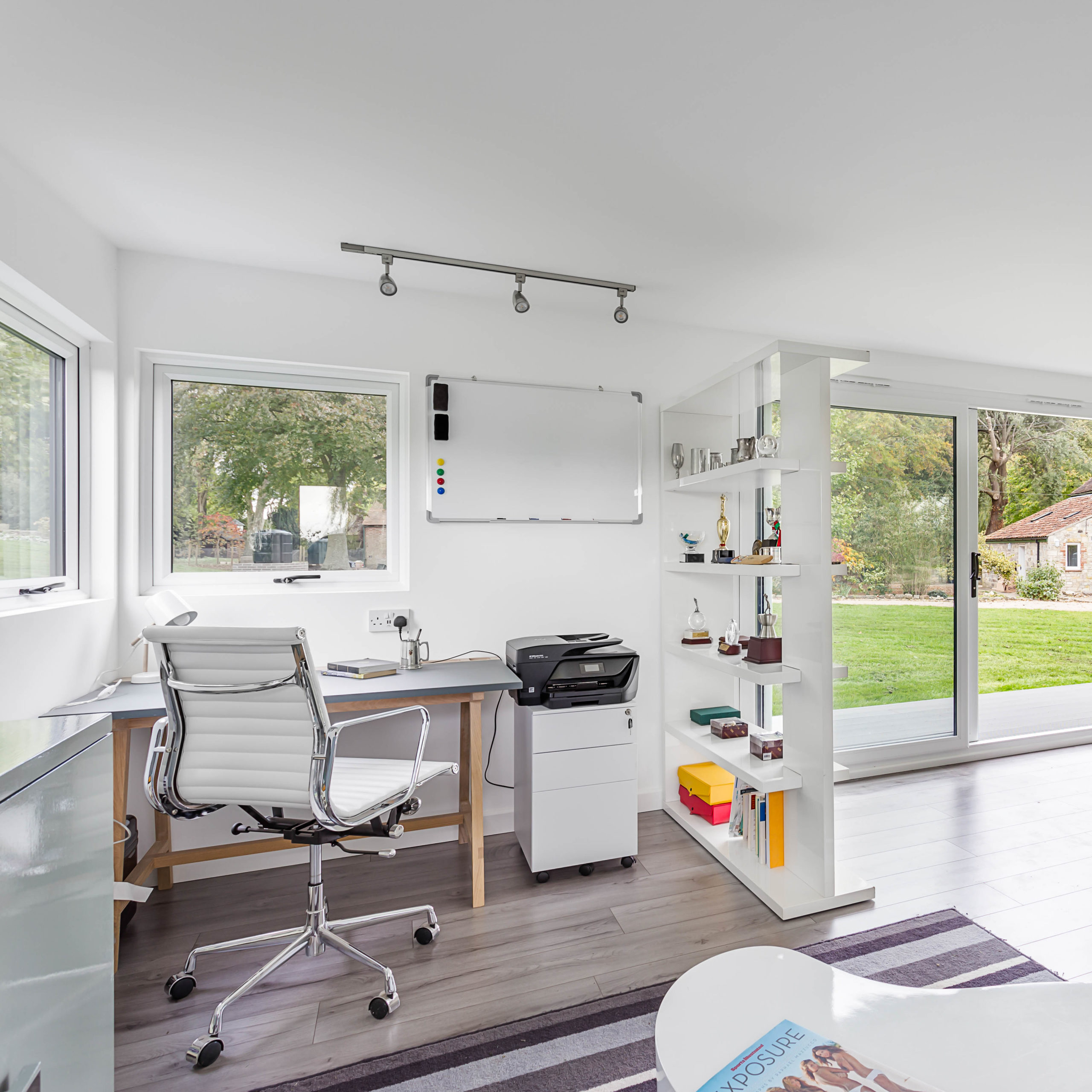 furniture to create multi-functional garden office
