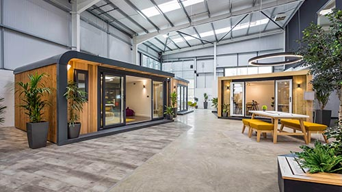 Green Retreats Showroom in Westcott, Buckinghamshire