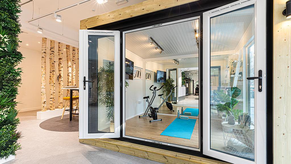 garden gym at london showroom