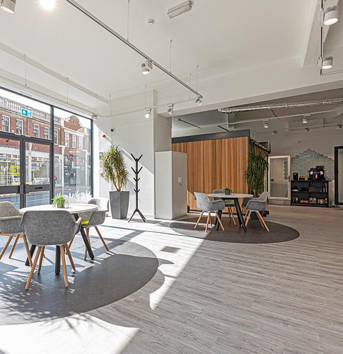 reception at London showroom