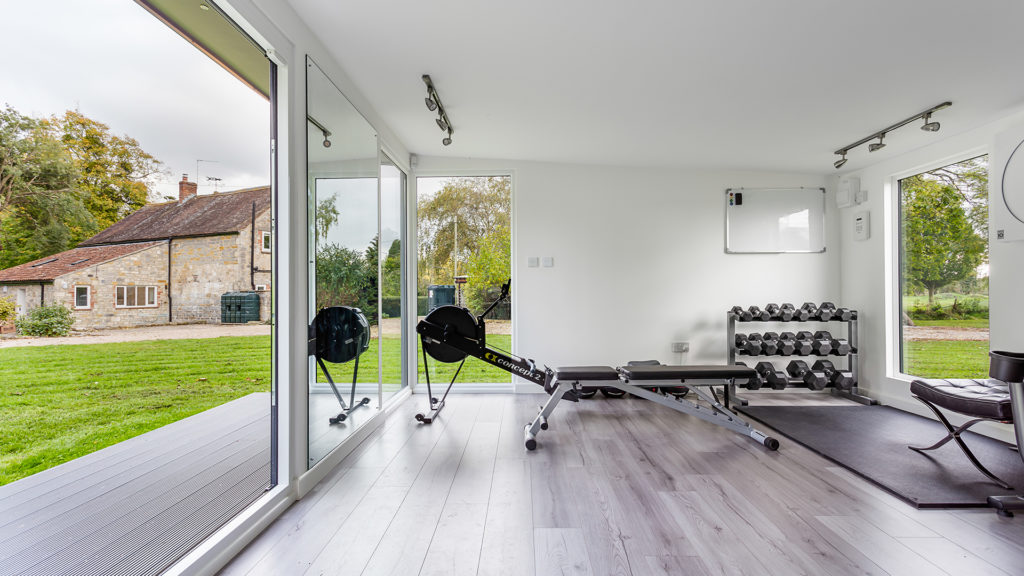 7.5m by 4m home gym