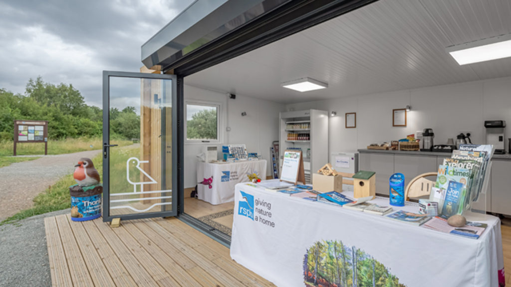 Exterior of Inspiration used as RSPB welcome centre