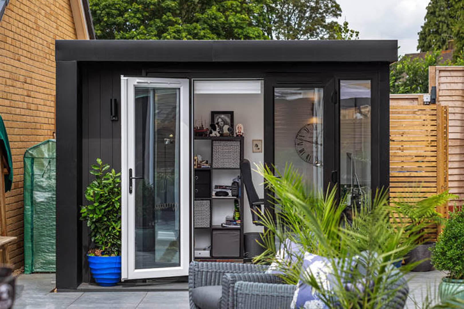 black garden office pod