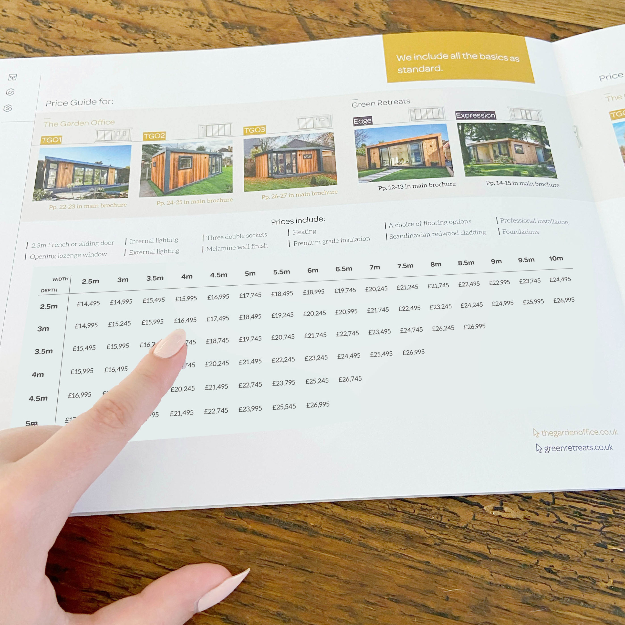 brochure price guide