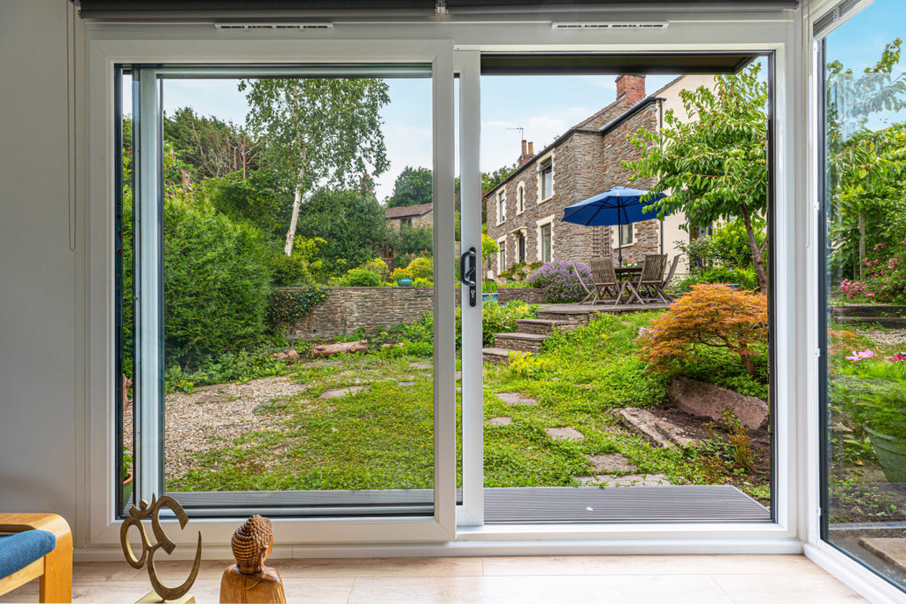 traditional garden views from garden room