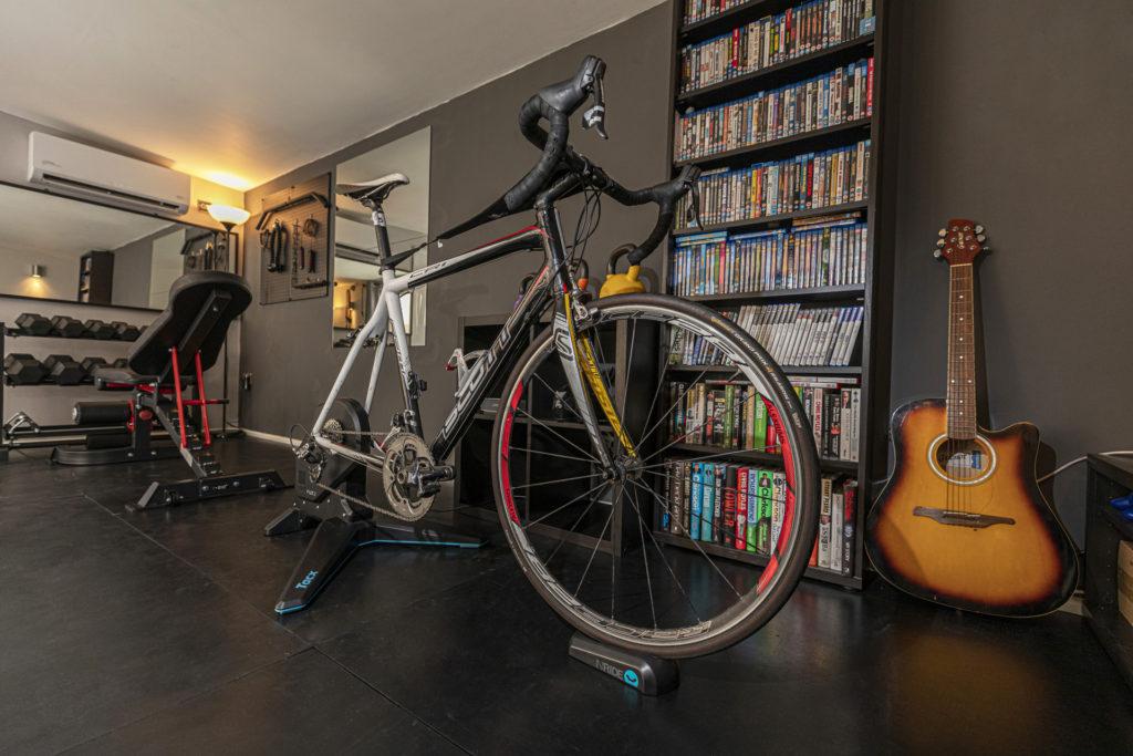road bike simulator garden gym