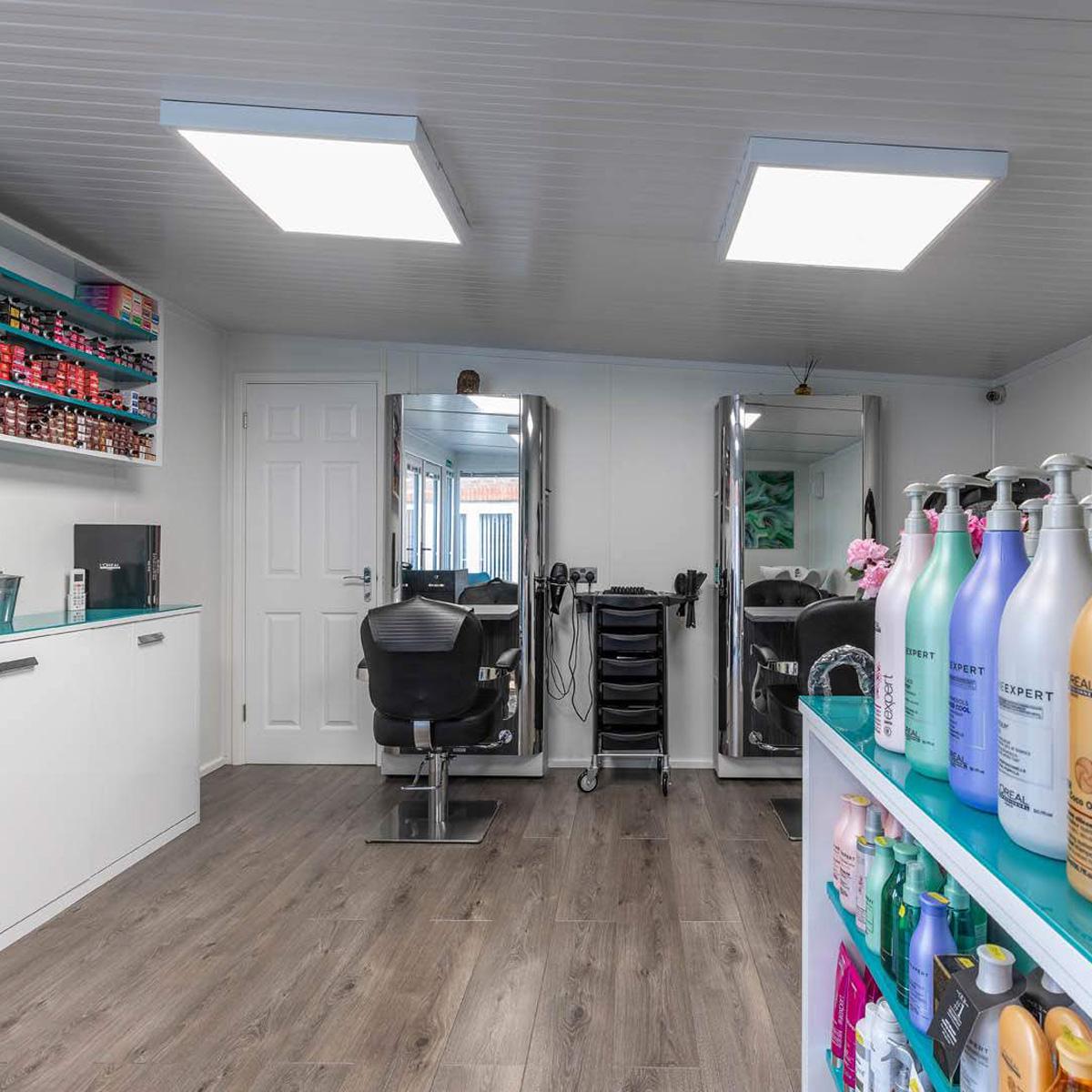 garden hair salon with treatment room
