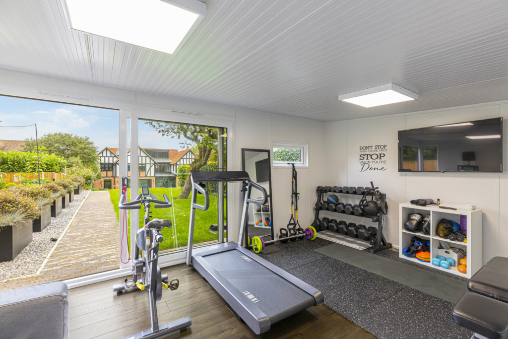 garden room treadmill with gorgeous views