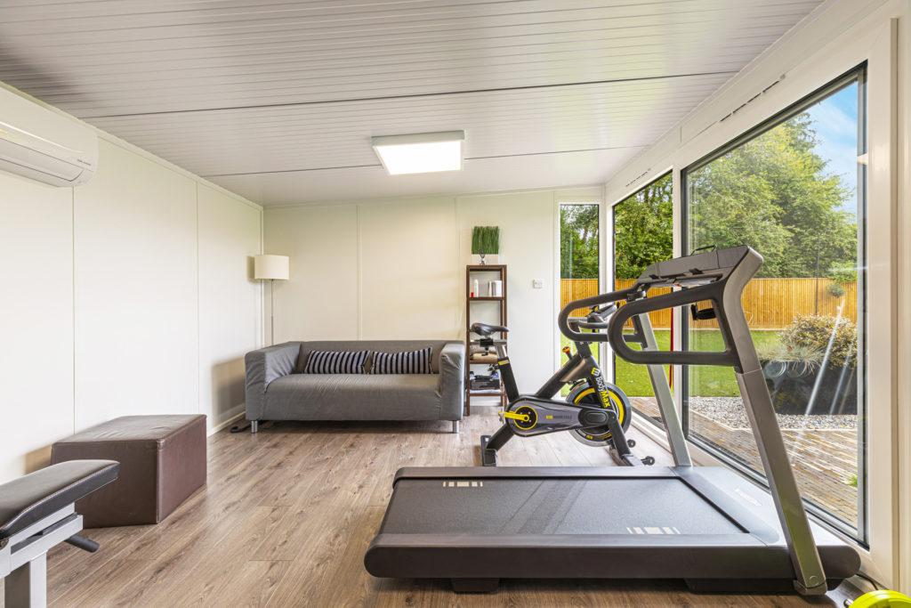 multi-purpose garden gym and lounge