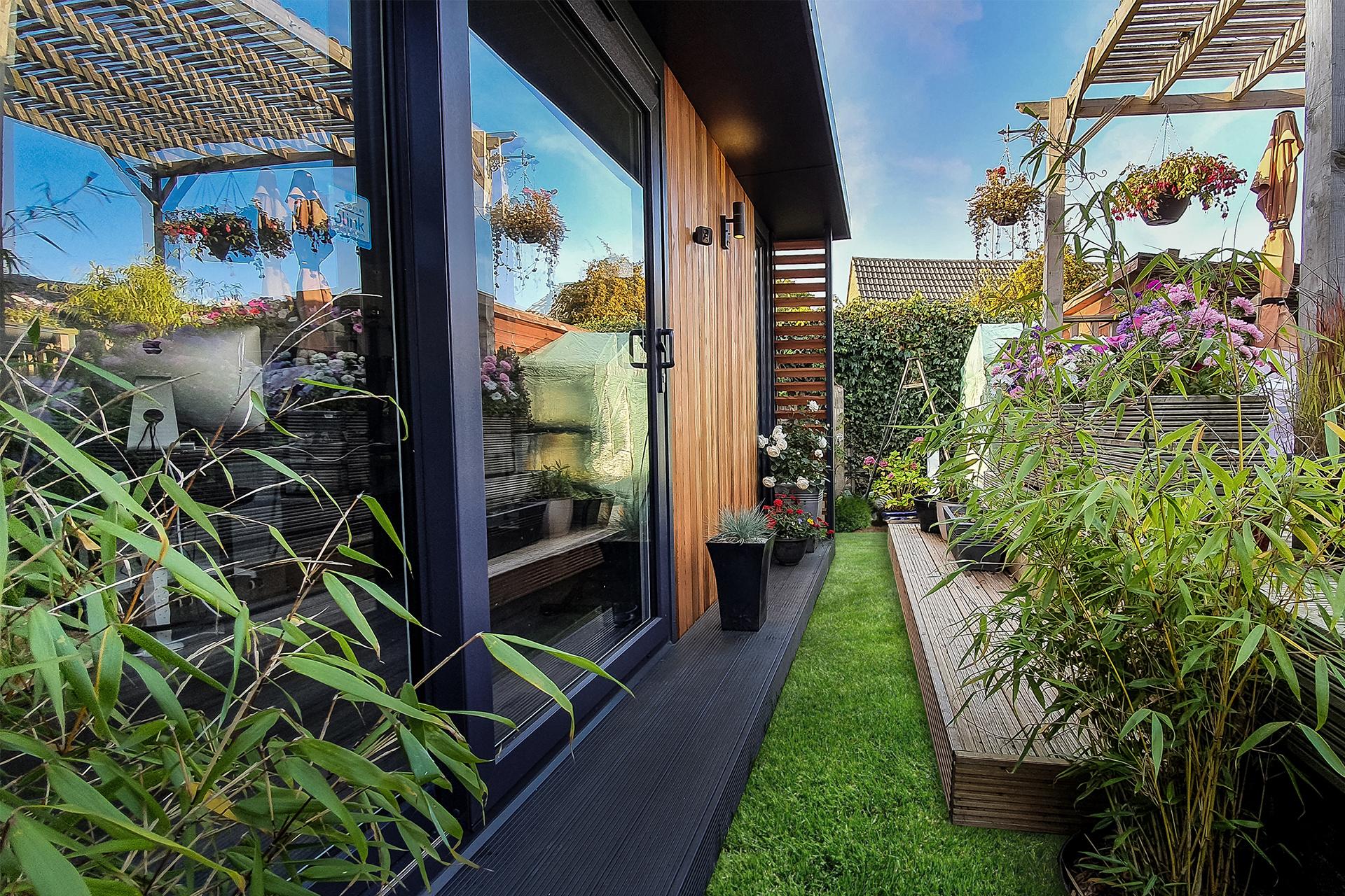 Exterior of home garden office