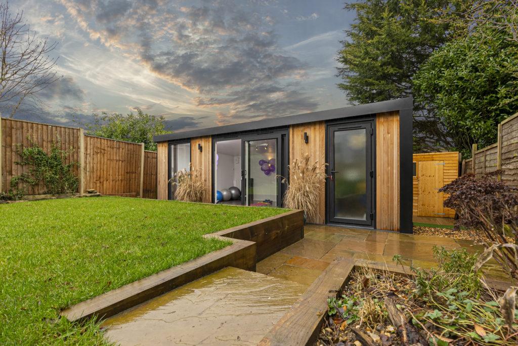 Home pilates studio in the garden